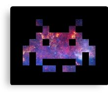 Space Invader Galaxy Canvas Print