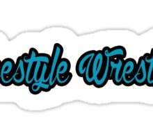 Freestyle Wrestling Blue Sticker