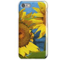 "Sunflowers, sunflower art, yellow flowers, ""Sunny Day"" iPhone Case/Skin"