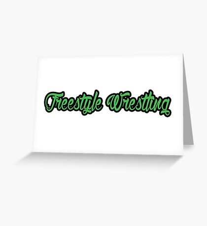 Freestyle Wrestling Green  Greeting Card