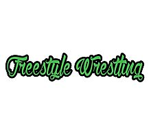 Freestyle Wrestling Green  Photographic Print