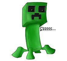 Minecraft Creeper Photographic Print