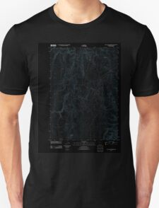 USGS Topo Map Oregon Wall Rock Springs 20110819 TM Inverted T-Shirt