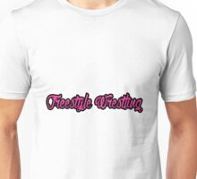 Freestyle Wrestling Pink Unisex T-Shirt