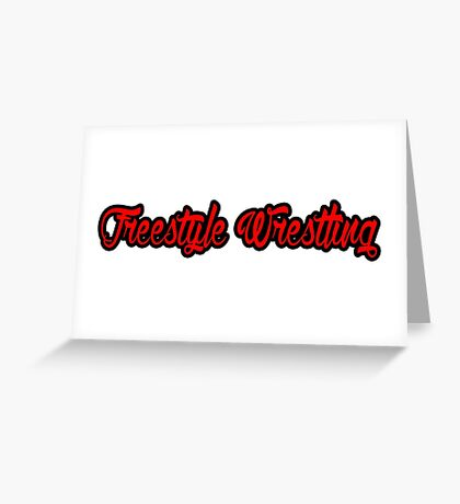 Freestyle Wrestling Red  Greeting Card