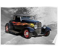 1932 Ford Roadster 'Traditional Hot Rod' Poster