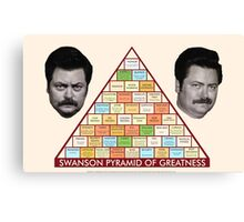 Swanson Pyramid of Greatness Canvas Print