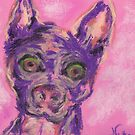 Crazy Dog (pastel) by Niki Hilsabeck