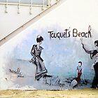Touquet's beach. Mural, Le Touquet  by buttonpresser