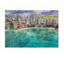 Waikiki by Sky Art Print