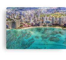 Waikiki by Sky Canvas Print
