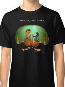 PENGUIN, SHE SAXED - dark Classic T-Shirt