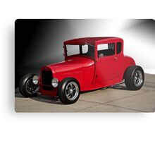 1928 Ford 'Little Red' Coupe IIIa Metal Print