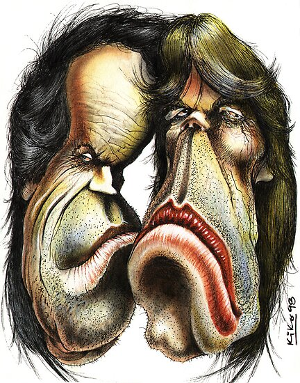 The Rolling Stones caricature by kiko