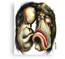 The Rolling Stones caricature Canvas Print