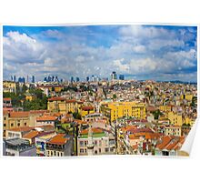 Areal view over delightful &vibrant Istanbul, TURKEY Poster
