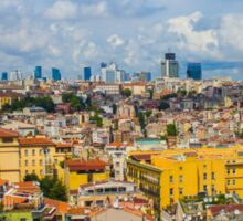 Areal view over delightful &vibrant Istanbul, TURKEY Sticker