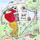Crazy Golfer by Mike HobsoN