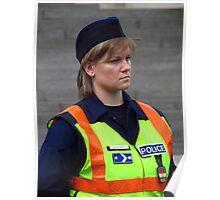 Hungarian Police Woman Poster