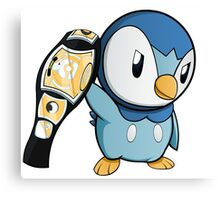 Piplup the WWE Champion Canvas Print