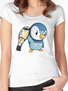 Piplup the WWE Champion Women's Fitted Scoop T-Shirt