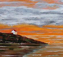 Puget Sound Sunset by Jack G Brauer