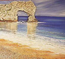 Durdle Door, up close by Annie Lovelass