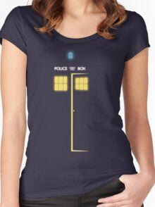 Glow of the TARDIS Women's Fitted Scoop T-Shirt