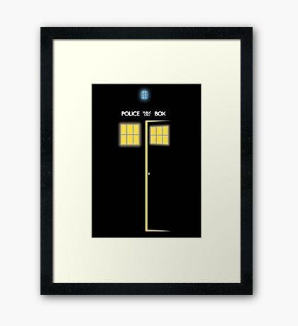 Glow of the TARDIS Framed Print