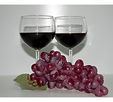 Red Wine & Red Grapes Photographic Print