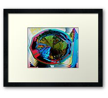 Psychedelic visual distortion Framed Print