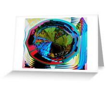 Psychedelic visual distortion Greeting Card