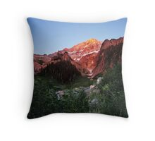 Sunset on the Timberline Trail, Mt. Hood Throw Pillow