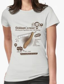 Ockham's razor Womens Fitted T-Shirt