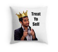 Treat Yo Self- Parks and Rec Throw Pillow