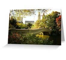Bow Bridge Central Park in Autumn Greeting Card