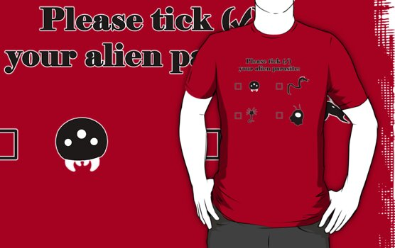 Alien Parasites by Geek T-shirts