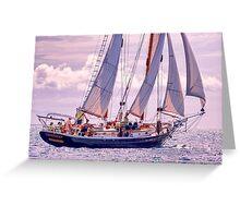 Defiance Under Sail Greeting Card