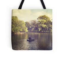 Central Park Row Boats Tote Bag
