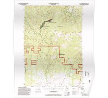 USGS Topo Map Oregon Dixie Meadows 279649 1996 24000 Poster