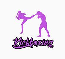 Kickboxing Female Jumping Back Kick Purple  Unisex T-Shirt