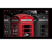 Phone Boxes Photographic Print