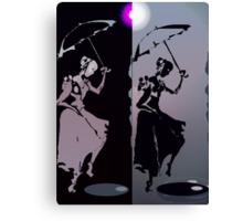 girls with umbrellas Canvas Print