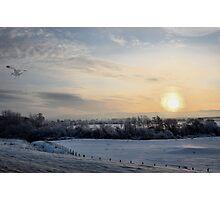 Snowy scene. Photographic Print