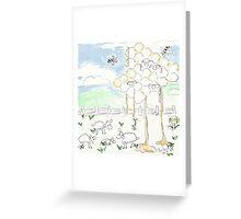 Sheep's Cheese and Honey - Yummy ;o) Greeting Card