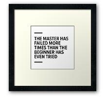 Master vs beginner Framed Print