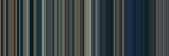 Moviebarcode: The Lord of the Rings: The Two Towers (2002) [Simplified Colors] by moviebarcode