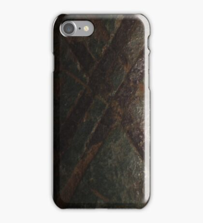 Medieval purse detail. Bronze and silver. iPhone Case/Skin