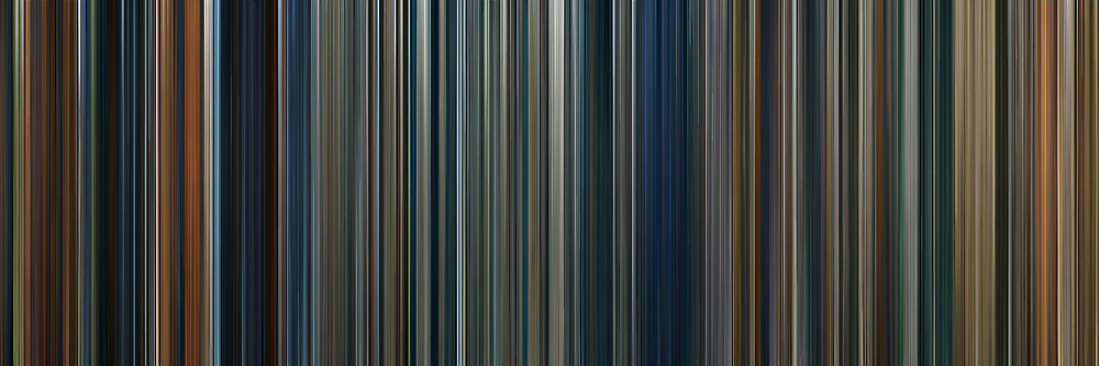 Moviebarcode: The Lord of the Rings Trilogy (2001-2003) by moviebarcode
