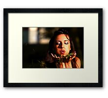 Blowing the Grass Framed Print